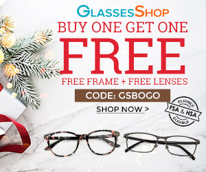 Shop GlassesShop.com and get BOGO savings - Now thru 1/20/2020 with code GSBOGO at checkout