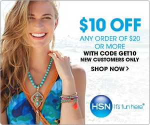 $10 off your purchase of $20 or more from HSN! Use code: GET10