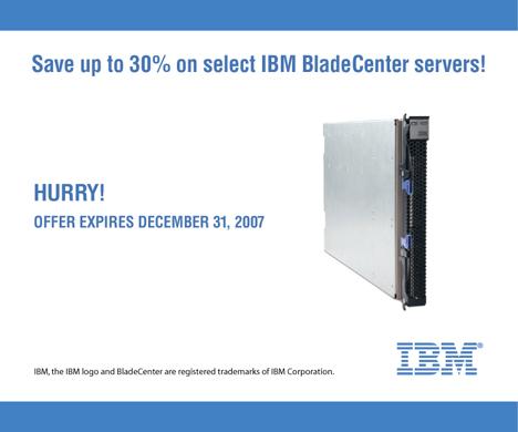 30% off IBM BladeCenter servers
