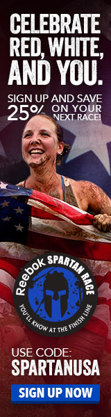 Celebrate Red, White, And You. Sign up and Save 25% on Your Next Reebok Spartan Race! Use code: SPAR