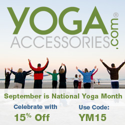 Celebrate National Yoga Month in September with 15% Off at YogaAccessories.com