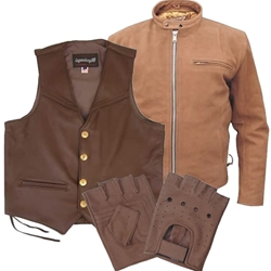 The Bikers' Den has the Best selection of Brown Leather Motorcycle Gear