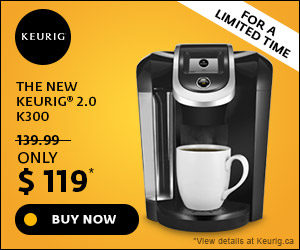 ONLY $119! The New Keurig 2.0 K300 Brewing System exclusively at Keurig.ca
