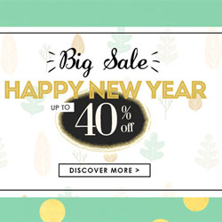 Get Up to 40% OFF Happly New Year.
