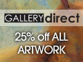 25% off all canvas and framed artwork