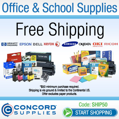 Free Shipping over $75 at ConcordSupplies.com