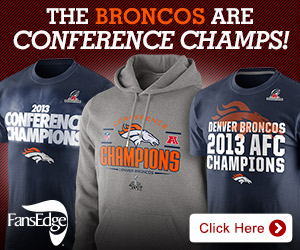 Shop Denver Broncos 2013 AFC Champ gear at FansEdge!