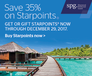 Receive up to 35% discount when you buy Starpoints