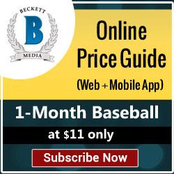 Beckett Media Grading Baseball Cards