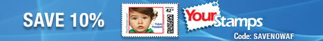 Save 10% at YourStamps.com. Real US Postage