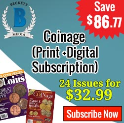 Beckett Coinage Combo ( Print + Digital ) Magazine Subscription , 24 Issue / Year At Just $32.99