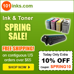 Up to 85% off Ink and Toner, Plus save 10% with code WNTR10
