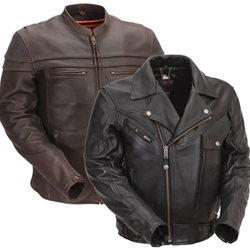 Men's Leather Motorcycle Jackets From The Bikers' Den