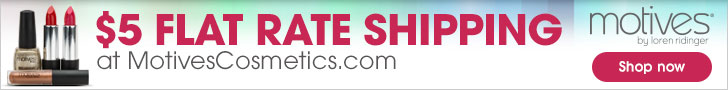 $5 Flat Rate Shipping on cosmetics, skin care, fragrances, makeup kits and cosmetic brushes at Motiv