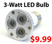 3-Watt LED Bulb for $9.99