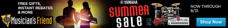 Yamaha Summer Sale at Musician's Friend