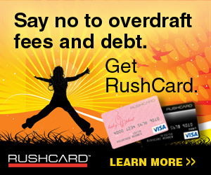 RushCard Pre-paid Credit Cards!