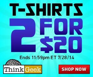 ThinkGeek 2 Tshirts For $20   www.pennypinchinmom.com