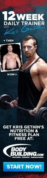 Kris Gethin 12 Week Daily Trainer 160x600