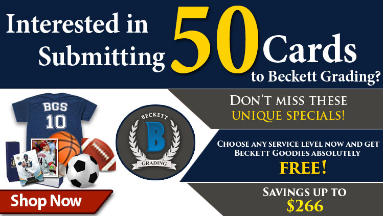 Choose Any service level now and get Beckett Goodies absolutely free!