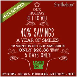 Get 40% off a Club Smilebox annual subscription.