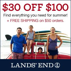 Lands' End $30 off $100