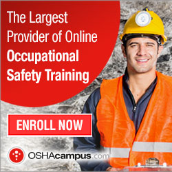 OSHA training certificate work