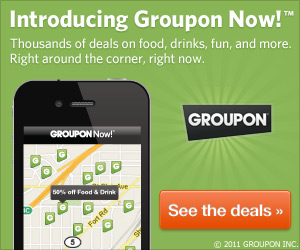 Groupon Huge Discounts on deals right NOW!