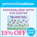 Send Easter Smiles! 15% off Personalized Easter Gifts from Personal Creations - 125x125