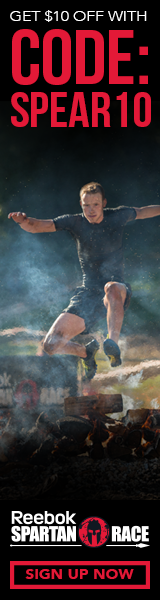 Get $10 off a Reebok Spartan Race, Use Code: SPEAR10