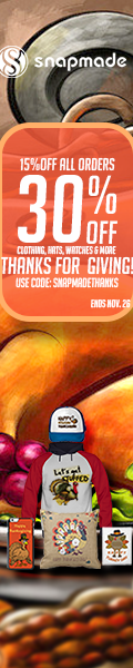 Snapmade 2015 - Thinksgiving 30% Off Deals - 120*600