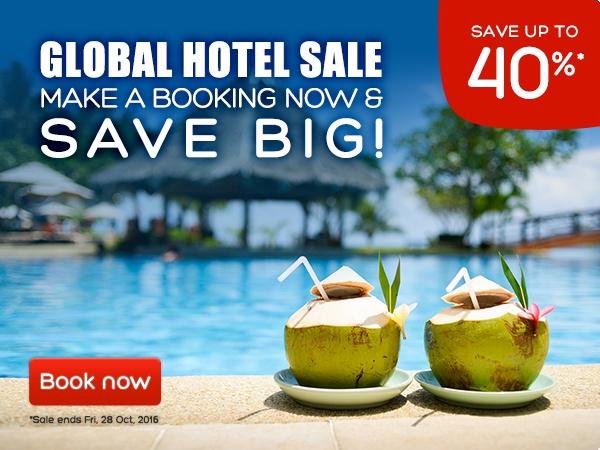 Hotels好订网活动:16年10月全球促销6折起