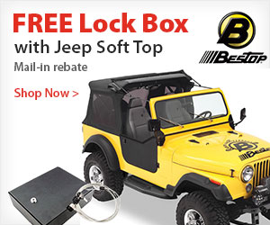 Bestop Soft Tops now with Free Lockbox