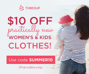 Get $10 off your first order of practically new women's & kids' clothes from thredUP.com!