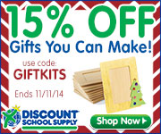 15% Off Gifts You Can Make & Free Shipping On All Stock Orders Over $79 At DiscountSchoolSupply.com!