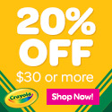 Get 20% off any order of $30 or more at Crayola.com!