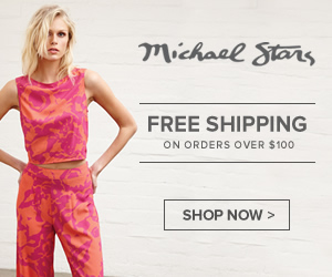 Get FREE Shipping both ways on orders of $100 and up from Michael Stars! Valid on ground shipments t