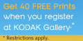 40 Free Prints at Kodak Gallery