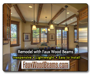 easy to install faux ceiling beams