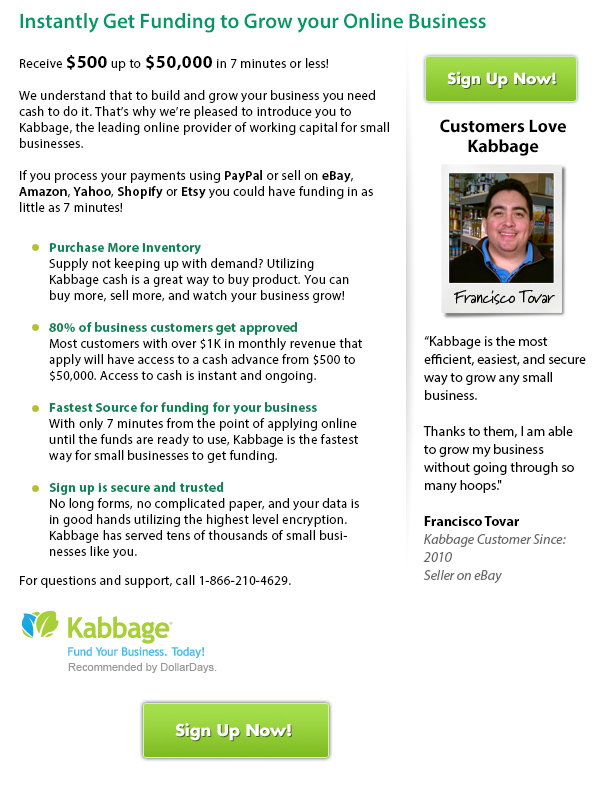 Kabbage - Get Funding to Grow Your Online Business