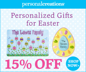 Send Easter Smiles! 15% off Personalized Easter Gifts from Personal Creations - 300x250