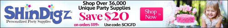 Free Shipping on Shindigz Orders $85+