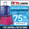 Irv's Luggage After Christmas Clearance!