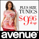 Avenue Tunics in sizes 14-32