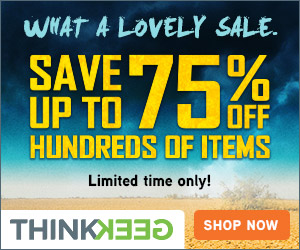Save 75 off on ThinkGeek
