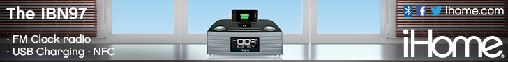 728x90Static iBN97 NFC Bluetooth Stereo FM Clock Radio