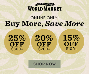 Online Only! Buy More, Save More - Up to 25% Off + Free Shipping on $300+ USE CODE: BMSMSALE