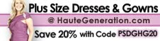 20% Off Plus Size Dresses, Gowns * Accessories