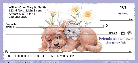Furry Friends Personal Checks