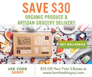 $10 Off First 3 Boxes of Organic Produce and Artisan Groceries